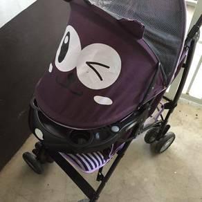 Baby stroller purple