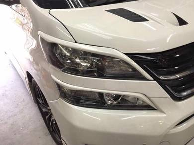 Toyota vellfire head lamp eye lip 4 pcs bodykit