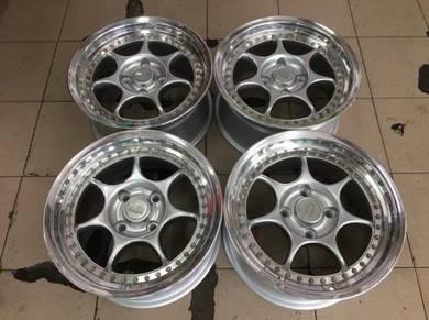 16x8J ENKEI RS 2pc Japan Sport Rim 4x114.3