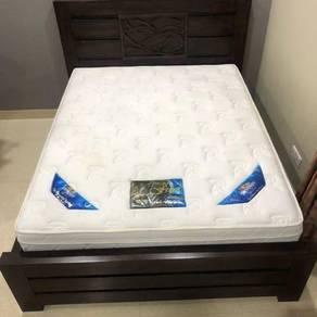 Bed frame & mattress (Queen Size)