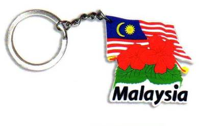 Malaysian Hibiscus Keychain(MSIA-1059)