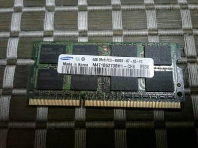 Laptop Notebook Ram DDR3 4GB Samsung