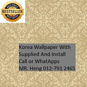 Beautiful In Wall paper with Installation gjh565