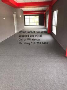 Natural Office Carpet Roll with install 4587