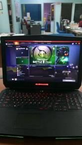 ALIENWARE 17inch gaming setup 100%