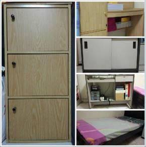 2 cabinets + 2 tables + 1 mattress (tilam)
