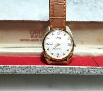 Cny Offer- Oris Gold Plated Wrist Watch