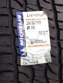 New 4x4 michelin ltx force 265/70/15