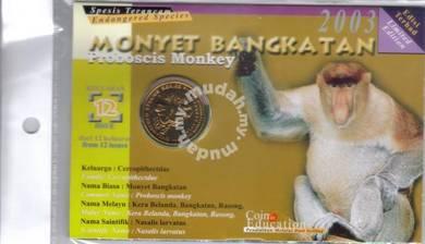 Coin card Animal Series Monyet Bangkatan 2003
