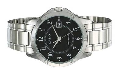 Casio Men Stainless Steel Date Watch MTP-V004D-1BU