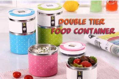 Double tier food container