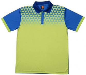 Baju Tshirt Quickdry QD4413 Lime Green/Royal Blue