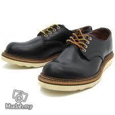 Work Shoe Red Wing Men Oxford Low Cut Black 8002