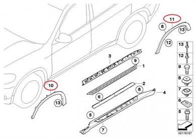 BMW E70 X5 wheel arch cover