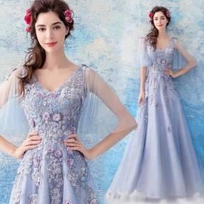 Purple prom wedding bridal dress gown RBP0817