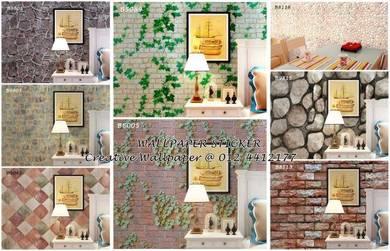 Self-adhesive PVC Wallpaper Sticker READY STOCK