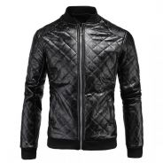 WM147 Men's Motorcycle Thicken Leather Jacket