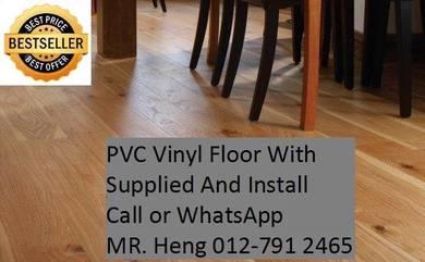 PVC Vinyl Floor - With Install cf68ij