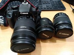 Canon 1000D with 3 Lens
