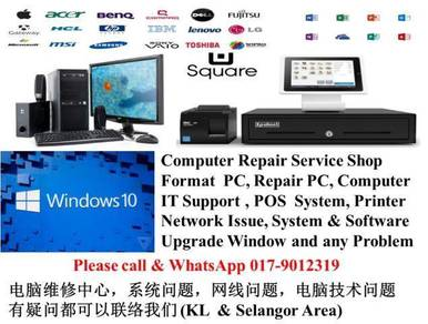 POS SYSTEM format pc repair computer IT support q