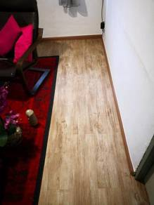 Vinyl Floor Lantai Timber Laminate PVC Floor Q326