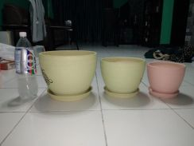 3 Sets of plant pots/ pasu bunga