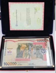 Philippines 100000 Commemorative Banknote RARE