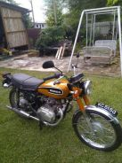 Antique Vintage Honda CB175 Motorcycle year 1972