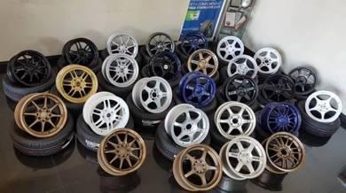 Sport Rim sukan 195-55-15 package siap Tyre