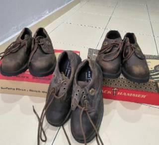Safety shoes black hammer saiz 5 (new)
