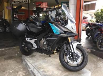 New CF MOTO 650 MT KTNS PROMO BOX FREE EXHAUST AK