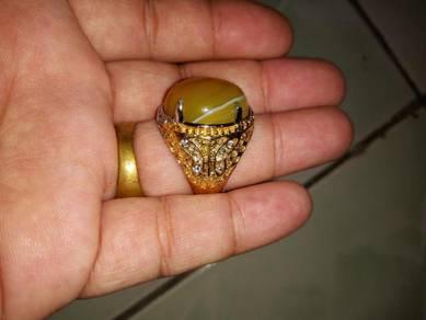 Cincin sulaiman kuning asli cantik