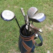 Set of Vintage Hogan & Polo Golf Clubs