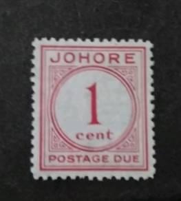 Malaya 1938 Johore Johor Postage Due 1c MLH