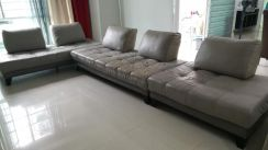 3 nos of Leather Sofa (for 8 persons)