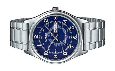 Casio Men Analog Day Date Watch MTP-V006D-2BUDF