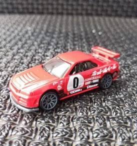 Hotwheels Red Nissan Skyline R34
