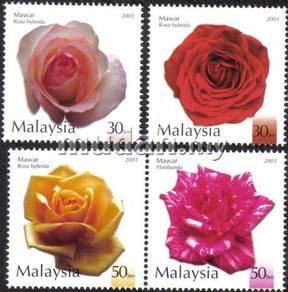 Roses in Malaysia 2003 Stamp UM S