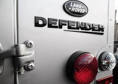 Land rover defender rear badge