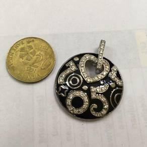 Swarovski Elements 7&5 Silver Pendant