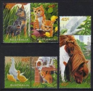 Australia 1996 pets u/m bk494
