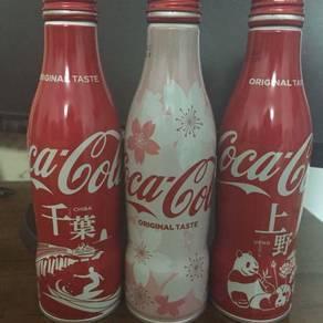 119 Tin botol coke cocacola Japan coca cola