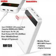 YOOBAO 20000mAh LED POWER BANK ORIGINAL M20PRO