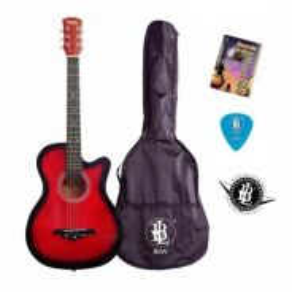 Guitar - Free Bag,Pick, Chord Book & Sticker - RED