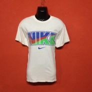 Baju brand NIKE big logo colourful design t shirt