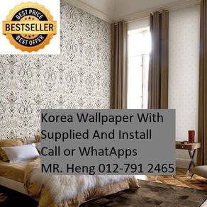 Wall paper Install at Living Space 87ygv