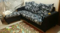 3-Seater sofa with 1 leg rest