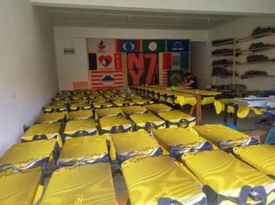 Perkhidmatan Cop Cetak Silkscreen Baju Kilang
