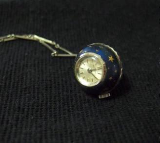 Vintage Blue Bucherer Pendant Ball Watch (1960s)