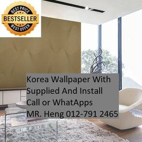 Design Decor Wall paper with Install 76tc